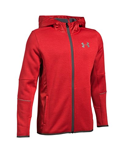 Under Armour Boys' Storm Swacket Full Zip, Red (600), Youth Large