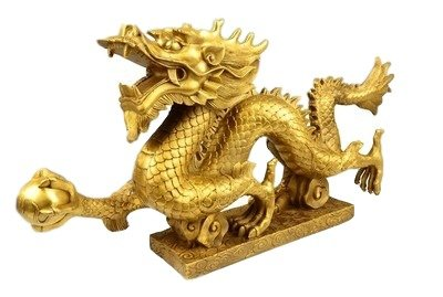 Gracave【Feng Shui Dragon 】 powerful feng shui goods Brass Bronze Statue Sculpture