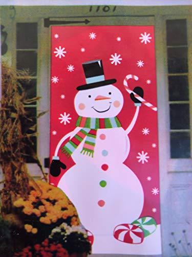 Christmas Door Cover Snowman 30