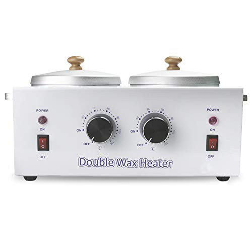 Price comparison product image Wax Warmer Double,  Wax Melter for Depilatory Removable, Hands Feet Hair Removal Machine, Beauty Salon Mini SPA Wax Therapy