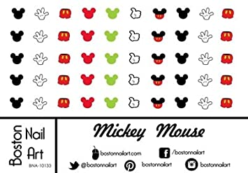 photograph about Printable Nail Decals referred to as Mickey Mouse Waterslide Nail Decals - Mounted of 50