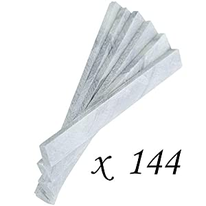 1 Gross Pack Lot of 144 Pieces of WhiteLine Flat Soapstone – 3/16″ x 1/2″ x 5″