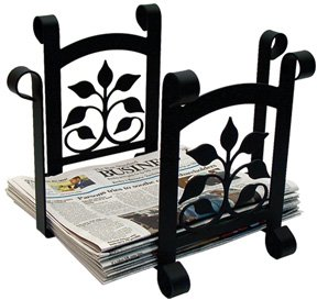 (17.5 Inch Leaf Fan Newspaper Recycle Bin)