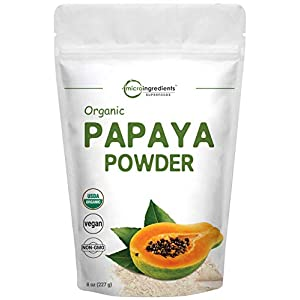Gut Health Shop 416lRcv5C6L._SS300_ Micro Ingredients Organic Papaya Fruit Powder, 8 Ounce (227 Gram), Powerfully Supports Antioxidant and Digestive…