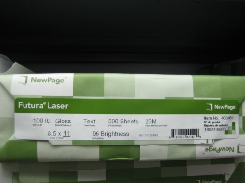 Futura Laser Gloss Paper 100lb text by Futura