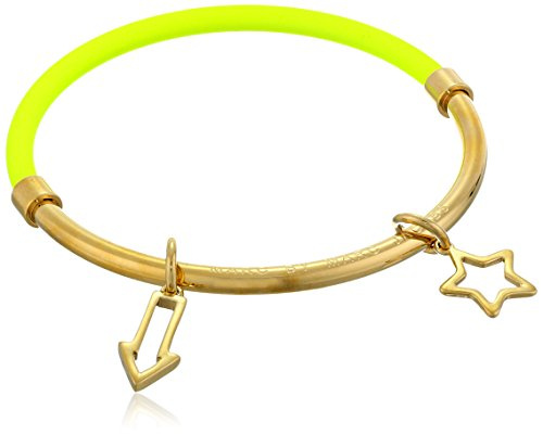marc-by-marc-jacobs-gold-tone-and-yellow-rubber-hula-hoop-bracelet