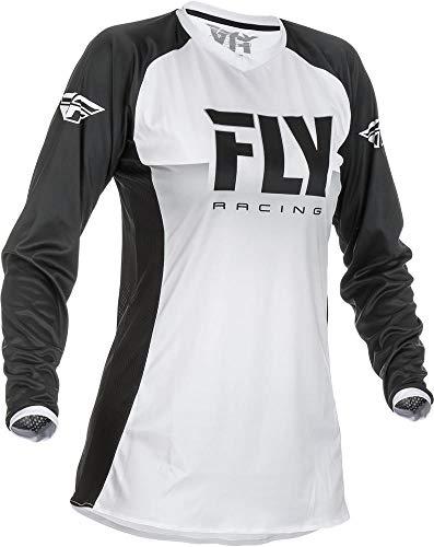 Womens Motocross Jerseys - Fly Racing White/Black Sz M Fly Racing Lite Women's Motocross Jersey