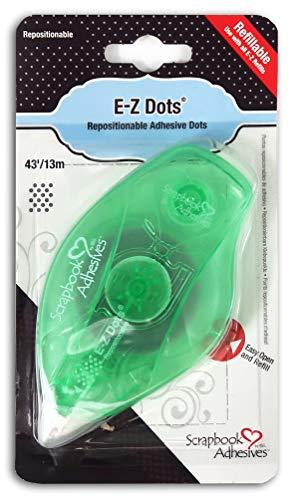 3L Scrapbook Adhesives E-Z Dots Repositionable Refillable Runner Dispenser, 43 Feet (Glue Dot Dispenser)