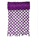 By VCO 30' x 12'' Commercial Length Extra Wide Wired Mesh Purple Tinsel Garland Ribbon