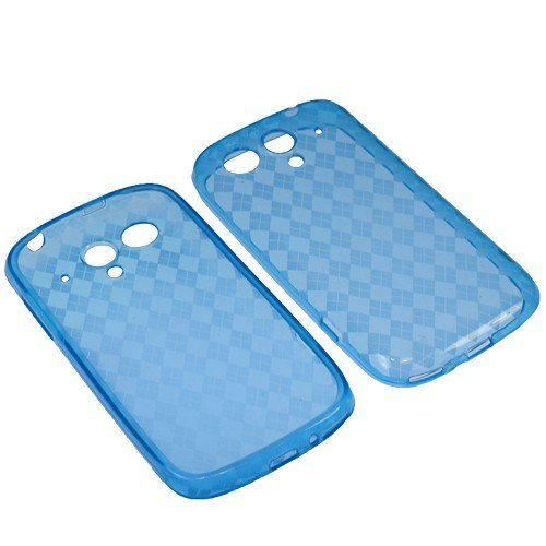 BW TPU Sleeve Gel Cover Skin Case for T-Mobile Huawei T-Mobile myTouch U8680 -Blue Checker ()