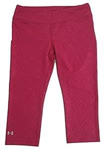 Under Armour Women's UA Favorite Fleece Capri Pomegranate Pink (Small, Pomegranate Pink)