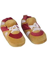 Wine Red and Brown Sneaker Slipper-Medium