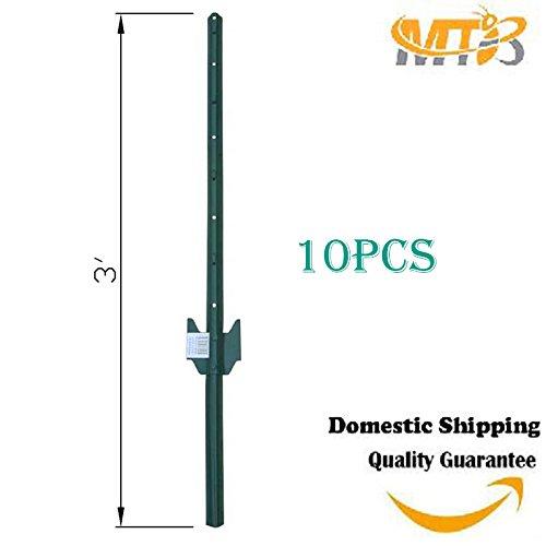 MTB Sturdy Duty Fence Post U Post 3', Pack of 10