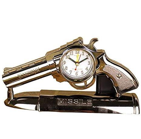 CTYguxx Relojes despertadores Reloj Despertador con Volante a la Izquierda Moda Relojes y Relojes Retro creativos: Amazon.es: Hogar