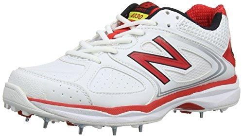 New Balance 4030, Men's Cricket Shoes, White, 6.5 UK (40 EU)