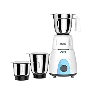 Usha Colt Mixer Grinder (MG-3053) 500-Watt 3 Jars with Copper Motor (White/Blue)