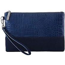 Leopard Print Clutch Purses Bags Women Crocodile Embossed Snakeskin Pattern Wristlet Pouch Wallet Faux Leather