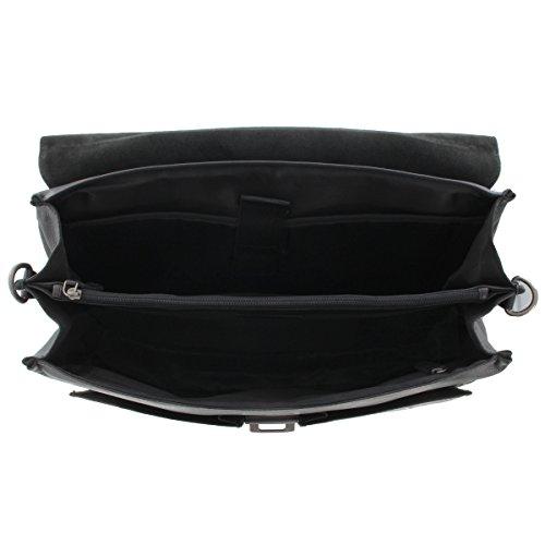 Prato Aktentasche 16 Zoll Laptopfach Business M55-S schwarz