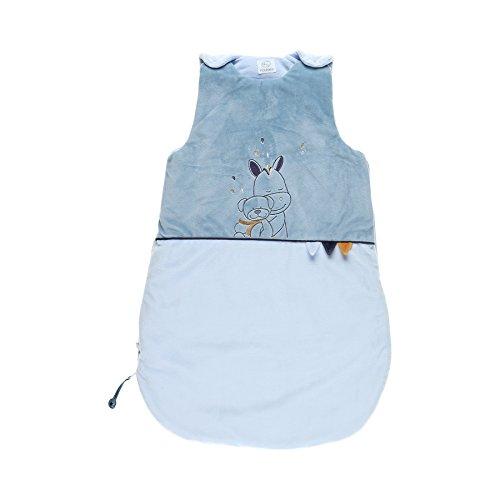 Noukies BB1740.05 Achille und Zebrito Baby-Schlafsack, 70 cm, blau