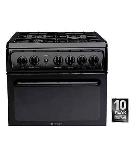 The HAG51G freestanding single Gas Cooker is 50 cm wide in a stylish and sleek black finish .The 41 litre conventional oven provides ample room for your family meals. The second cavity contains a variable grill
