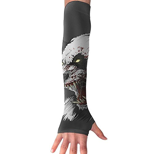 Men Women Panda Blood Stylish Non Slip Arm Sleeves UV Protection Cooling Arm Warmer Long Sleeve Glove For Outdoor Sports Unisex by Ancharpin