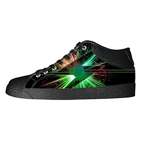 Custom Lightning Womens Classic High Top Canvas Shoes Fashion Sneaker (Shoe Chargers San Diego Nike)