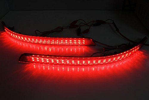 iJDMTOY Brilliant Red 40-SMD LED Bumper Reflector Lights for 11-13 Kia Optima K5, Function as Tail & Brake Lamps by iJDMTOY (Image #2)