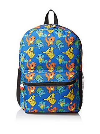 Pokemon Pikachu Balbasaur Charmander Squirtle School Bag