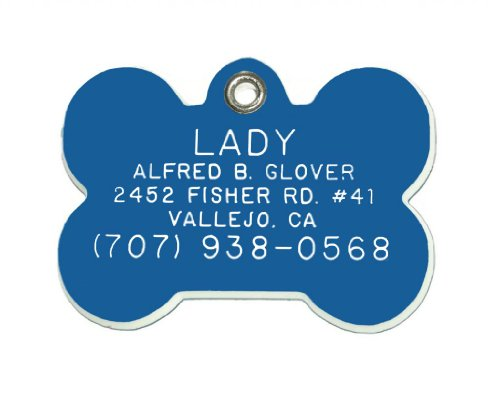 Plastic Id Tags Bone - Bone Shaped Dog Cat Pet ID Tag Custom Engraved Acrylic Plastic 6 Colors & 3 Sizes to Choose From (Message Seller with Engraving Information)