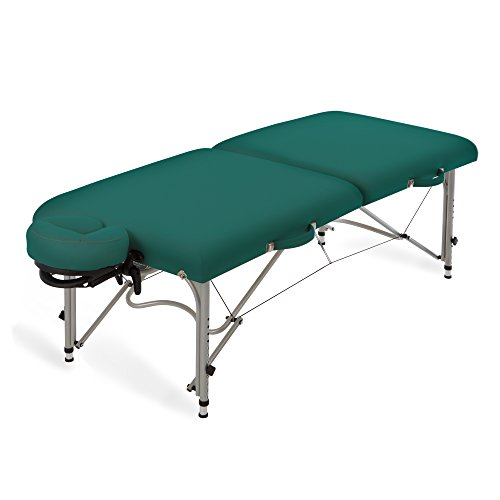 EARTHLITE Aluminum Massage Table Package LUNA – Lightweight, Foldable Frame incl. Face Cradle & Carry Case (29lb)