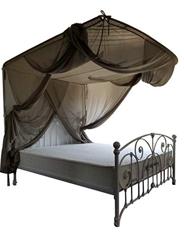 Lvfeier High Radiation Protection/EMF Blocking/WiFi Radiation Shield Bed Canopy (Twin) 82.778.763 INCHES Anti-Mosquito Insomnia Relief Swiss Retractable Canopy (Stainless Steel Bracket)