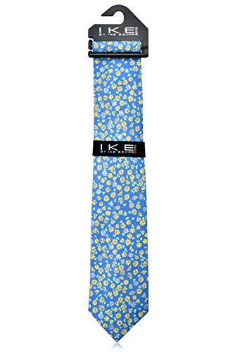 Ike Behar Boys 52'' Baby Blue And Yellow Floral Tie by Ike Behar (Image #2)