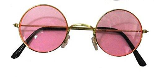 Rhode Island Novelty John Lennon Funky Retro 70s Costume Glass, Pink -