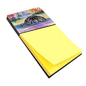 "Caroline's Treasures SS8040SN Newfoundland Refillable Sticky Note Holder or Postit Note Dispenser, 3.25 by 5.5"", Multicolor 11"