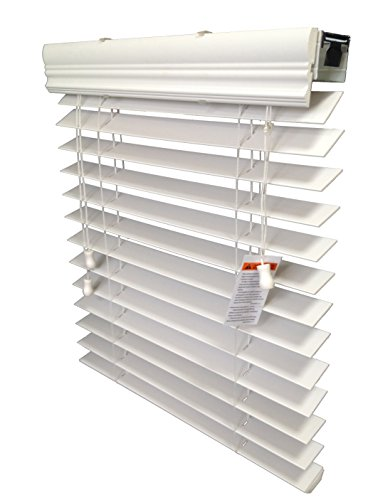 2″ Faux Wood Blind, Inside-Mount, 42 1/2″ x 84″, White