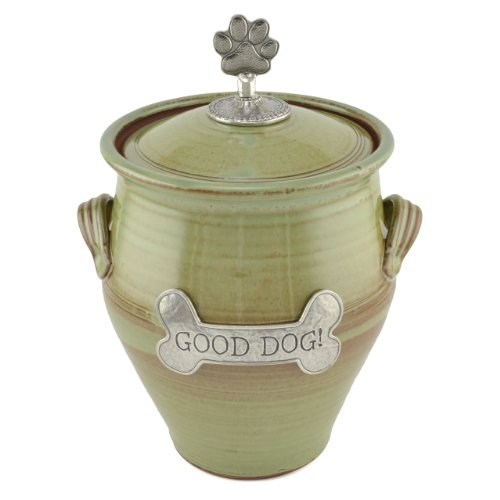 - Oregon Stoneware Studio Large Dog Treat Jar, Pistachio