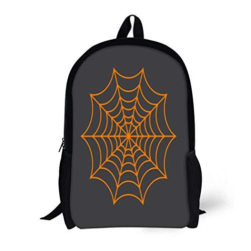 Pinbeam Backpack Travel Daypack Halloween Spider Network Cobweb