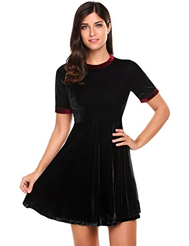 ACEVOG Womens Casual Sleeve Cocktail