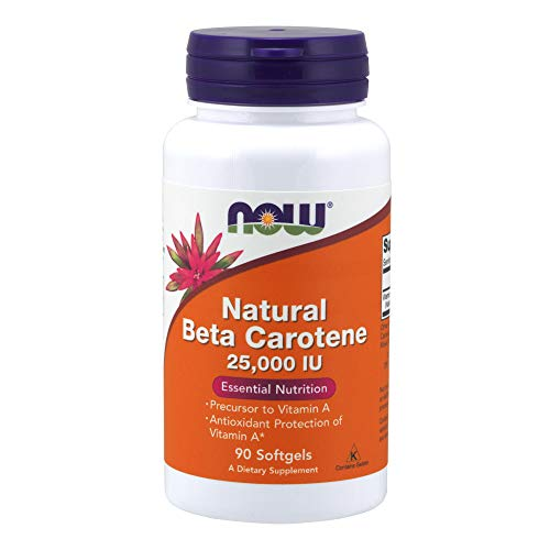 NOW Supplements, Natural Beta Carotene, 90 Softgels