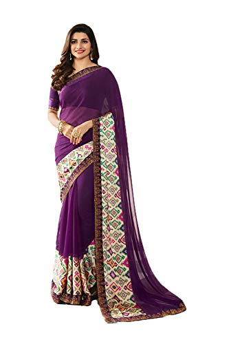 Da Facioun Indian Sarees Women Wedding Designer Party Wear Traditional Sari. Da Facioun Femmes Indiennes De Saris Concepteur De Mariage Tenues De Soirée Sari Traditionnel. Purple 8 Violet 8