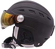 Heemtle Ski Snow Snowboard Skate Helmet for Kid&Men&Women with Attached Detachable Photochromatic Pola