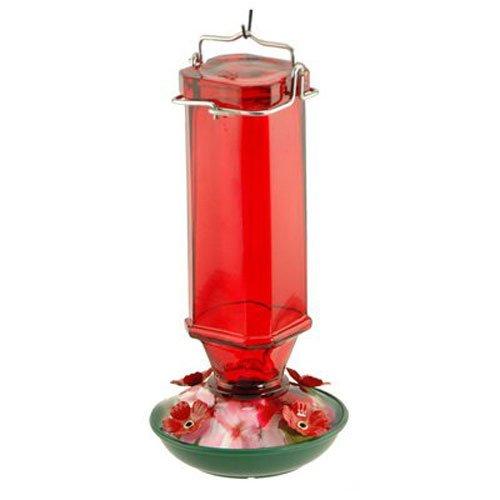 Audubon/Woodlink Glass Humminbird Feeder 16 Ounce Red NA3524