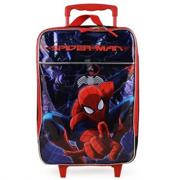Rick Steves Convertible Carry On (Marvel 16'' Spiderman Amazing Pilot Case Rolling Luggage Case Carry on Approved)