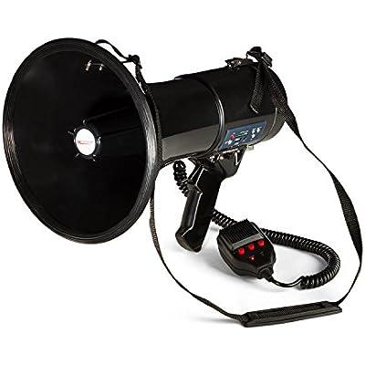 AUNA 80W Megaphone MEGA080USB MP3 Player USB Rec Function 700m Black