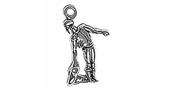 Sterling Silver Girls .8mm Box Chain Spanish Matador Bullfighter Cape To Side Pendant Necklace