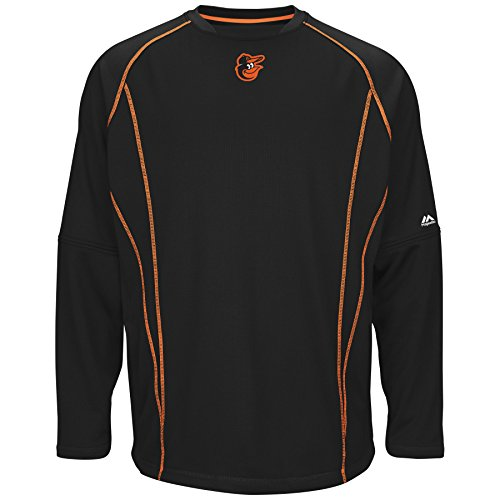 Majestic Baltimore Orioles MLB Authentic On-Field Crew Pullover Sweatshirt ()
