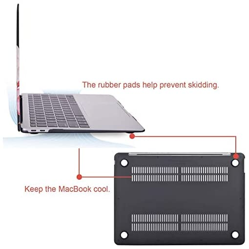 MOSISO MacBook Air 13 inch Case 2020 2019 2018 Release A2179 A1932, Plastic Hard Shell &Keyboard Cover &Screen Protector…