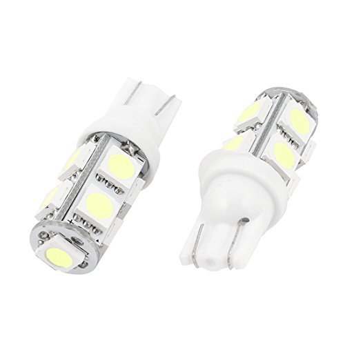DealMux 2個T10 W5Wホワイト5050 9 SMD LEDダッシュボード電球 B06XTZNHLQ