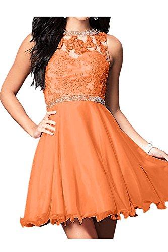 La Damen Mini Marie Braut Spitze Abendkleider Cocktailkleider Promkleider Partykleider Orange Kurzes BpBSwCxg