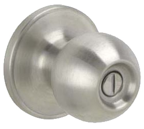 0CNA619 Corona Bed and Bath Knob, Satin Nickel (Silver Door Knob)